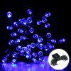 17M Solar Powered Light-Sensitive Light String Decoration Lights 100LED String Outdoor Indoor Starry Fairy Lighting String for Home, Patio, Garden, Holiday, Christmas, Wedding, Party.(100 LED Blue Col