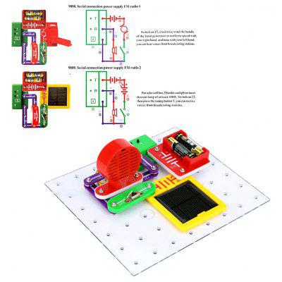 Excelvan Teacher Wang W-9889 Electronics Discovery Kit DIY Blocks Smart Circuits Science Educational Toy Stimulate Interest, Learning and Entertaining Kit, Perfect Gift