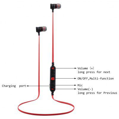 Buy RED BLACK AWEI A920BL Bluetooth Headphones for $16.10 in GearBest store