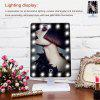 Ovonni LED Touch Screen Makeup Mirror Portable 20 LEDs Lighted Make-up Cosmetic Mirror Adjustable Vanity Tabletop Countertop Mirror - WHITE