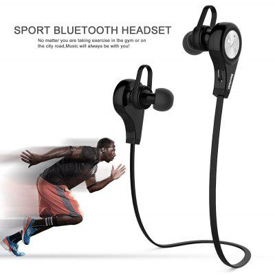 Buy BLACK Excelvan Q9 Bluetooth 4.1 Wireless Sports Headphones for $15.53 in GearBest store