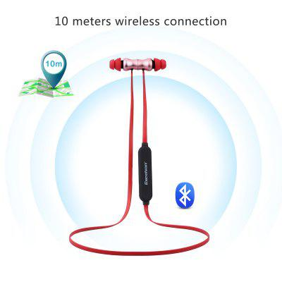 Buy ROSE GOLD RED EXCELVAN BTH 831 Bluetooth V4.1 Wireless In-Ear Headphones for $14.28 in GearBest store