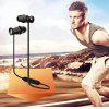 EXCELVAN BTH-828 Sport Bluetooth V4.1 headsets  Sweatproof Stereo Running Headphones Wireless Earphones with Microphone & Magnetic compatible - BLACK & RED