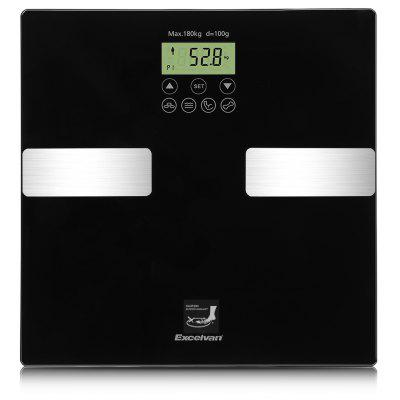 Excelvan BF1201C1 - GL - 01 Touch 400lb Digital Body Fat Scaler with Tempered Glass Platform