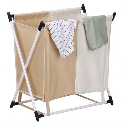 Laundry Hamper Finether Folding X Frame Sorter Stand With 2