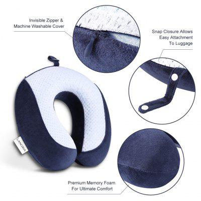(TRAVEL PIL GEL MF) LANGRIA U-Shaped Memory Foam Travel Neck Pillow with Cooling Gel Technology for Airplane, Car, Train, Home, Office Napping, Reading and Leisure заклепка matrix 40627
