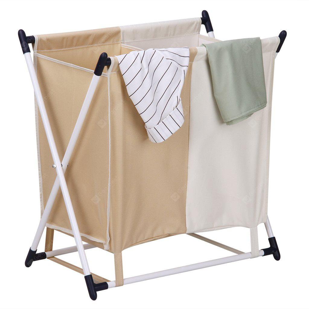 LAUNDRY HAMPER) Finether Folding X-Frame Laundry Sorter Hamper Stand ...