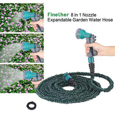Finether 75 FT 8 in 1 Garden Water Hose Latex Pipe
