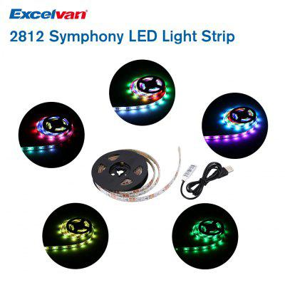 Excelvan 2812 DC5V 60 LEDs 1.5M Light Strip Light