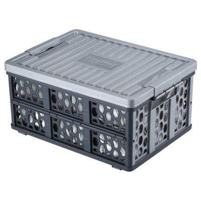 (FOLD STORAGE CRATE) Finether Collapsible Utility Plastic Storage Container  Crate Box Basket With Detachable