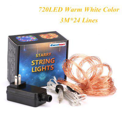 Excelvan 720 LED Copper Wire Branch String Lights