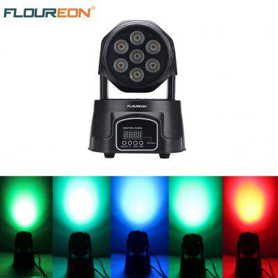 Floureon® 100W 4 In 1 RGBW LED Moving Head Light,DMX 512 9/14CH Stage Party DJ PAR Lighting, for Indoor Club, Party Show, DJ, KTV, Sound Active,EU