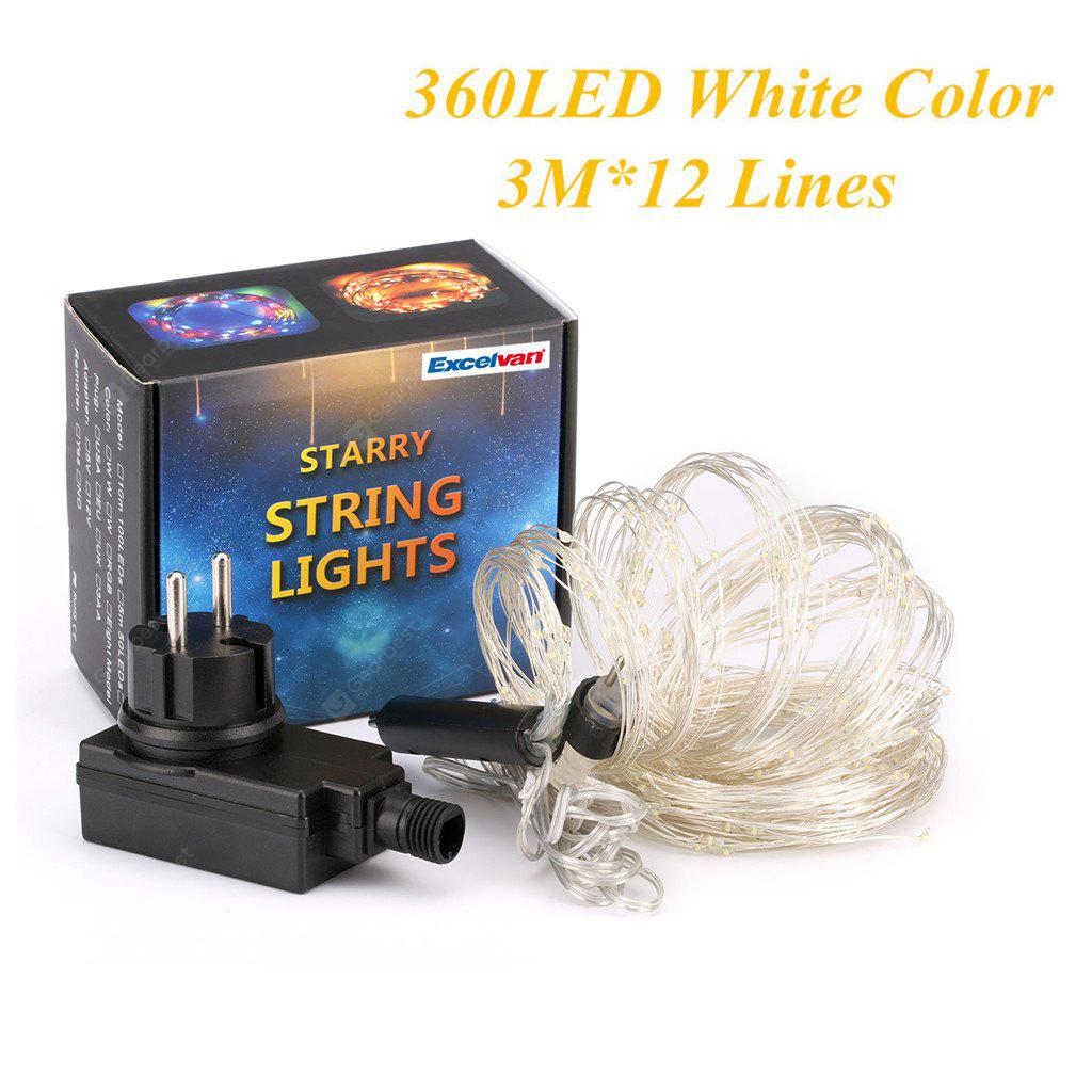 Excelvan® 360 LED Copper Wire Branch String Lights, 30 LED x 12 ...