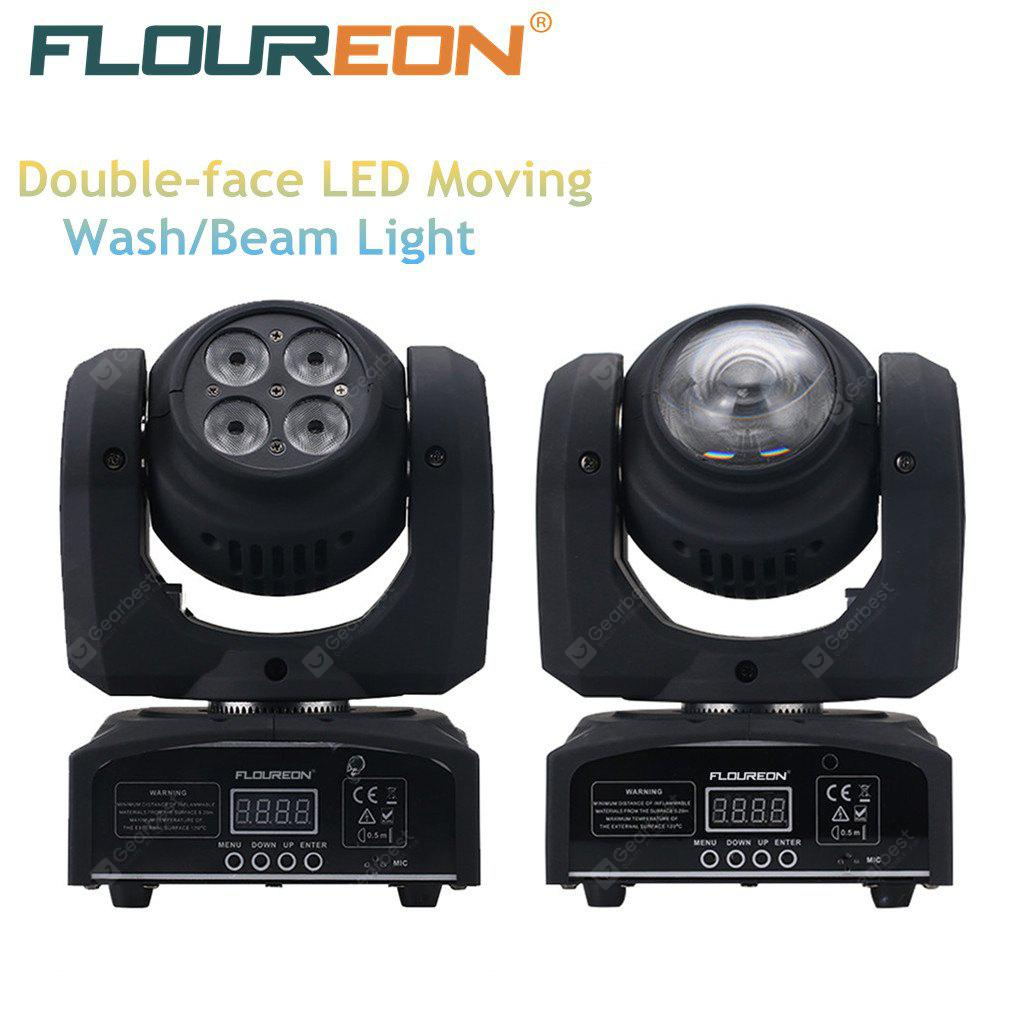 Floureon 50w Cree Led Moving Head Double Face Beam Wash Stage Voucher Shell Rp 100000 Light4 In1 Rgbwdmx51215 21ch For Indoor Clubdisco Party Show Dj Ktv Sound Active