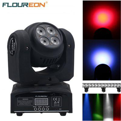 Floureon® 80W 8 Cree LED Moving Head Double Face Led Wash Stage Light,4 in1 RGBW,DMX512,15/21CH For Indoor Club,Disco Party Show, DJ, KTV, Sound Active,EU.