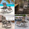 (FOLD LOUNGE CHAIR BRONZE) Finether Folding Zero Gravity Lounge Chair Reclining Chair with Adjustable Headrest for Home and Office Napping, Patio, Garden, Camping, Beach, Bronze