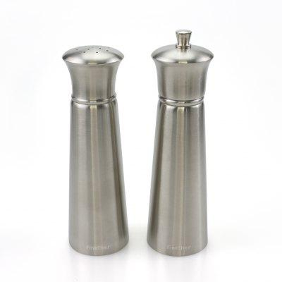 Finether OTSYMP - 004 2pc Salt Shaker Pepper Mill Set