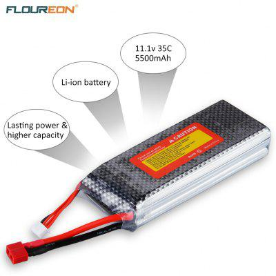 Floureon 3S1P 11.1V 5500mAh 20C with T Plug LiPo Battery for RC Quadcopter Airplane Helicopter Car Truck Boat Hobby