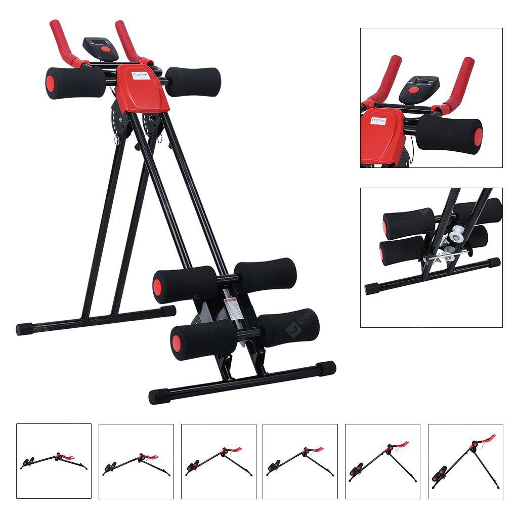 (AB CRUNCHER) Finether AB Cruncher Abdominal Trainer Glider Machine with 6 Resistance Incline Levels