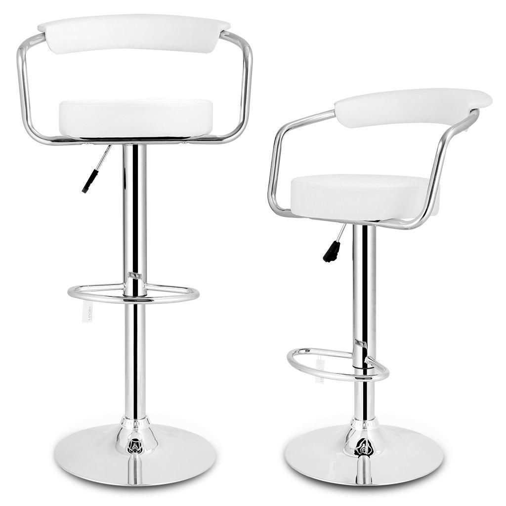 Fine Uk Bar Stools Chairs With Open Back White Langria Set Of 2 Gas Lift Height Adjustable Swivel Faux Leather Bar Stools Chairs With Open Back Chromed Beatyapartments Chair Design Images Beatyapartmentscom