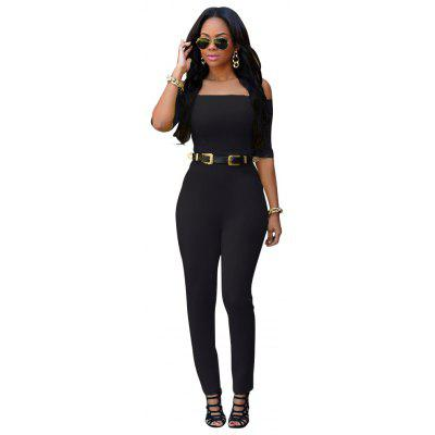 Plus Size Jumpsuit Casual Overalls For Women Rompers Woman Jumpsuits Bodysuit Sexy Half  Sleeve Slash Pants  Romper Pants