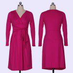 Buy 2016 New Fashion Sexy Deep-V-neck Autumn Winter long Sleeve Casual Work Charm bandage Dresses S ROSE