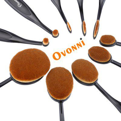 Ovonni MT034 Professional 10Pcs Superior Cosmetic Makeup Brush Makeup Tools Kit Brush Set