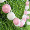 (STRING LIGHT BATTERY BALL COTTON PINK&WHITE) Finether 7.22 ft 2.2 m Battery Powered 20 LED Cotton Ball Globe String Lights with Warm White Glow for Indoor Christmas Party Wedding Holiday Festival