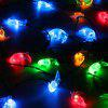 (STRING LIGHT SOLAR MOON MULTICOLOR)Finether 21.3 ft 6.5 m Solar Powered 30 LED Clear Moon Face String Lights for Indoor Outdoor Garden Patio Yard Home Christmas Party Holiday Festival Wedding Celebra