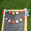 (STRING LIGHT BATTERY BALL COTTON MULTICOLOR) Finether 7.22 ft 2.2 m  Battery Powered 20 LED Cotton Ball Globe String Lights with Warm White Glow for Indoor Christmas Party Wedding Holiday Festival