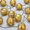 (STRING LIGHT SOLAR LANTERN GOLDEN WARM WHITE)Finether 18.37 ft 5.6 m Solar Powered 20 LED Nylon Lantern String Lights with Warm White Glow for Indoor Outdoor Garden Patio Yard Home Christmas Party Ho