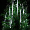 (EU STRING LIGHT TUBE WHITE) Finether 13.1 ft 8 Tube 144 LED Meteor Shower Rain Snowfall Plug-In String Lights for Holiday Christmas Halloween Party Indoor Outdoor Decoration Commercial Use, White Glo - BIANCO FREDDO