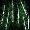 (EU STRING LIGHT TUBE WHITE) Finether 13.1 ft 8 Tube 144 LED Meteor Shower Rain Snowfall Plug-In String Lights for Holiday Christmas Halloween Party Indoor Outdoor Decoration Commercial Use, White Glo - COOL WHITE