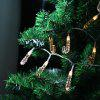 (STRING LIGHT BATTERY CANE) Finether 7.2 ft 2.2 m Battery Powered 20 LED 3D Clear Candy Cane Crutch String Lights for Indoor Christmas Party Holiday Festival Celebration Home Decoration Commercial Use