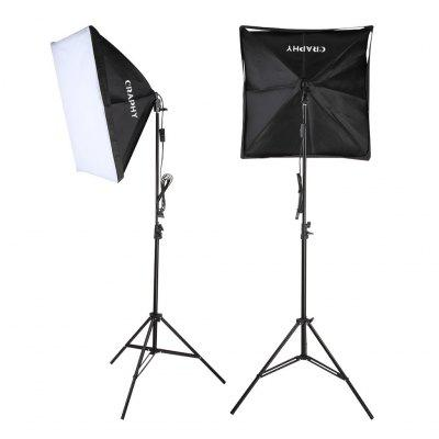 Craphy 700W Photography Continuous Softbox Light Lighting Kit Photo Equipment Soft Studio Light Softbox 50*70cm + Light Stand+ Portable Bag with EU Plug