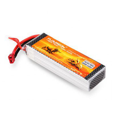 Floureon 4S 14.8V 5000mAh 30C with T Plug LiPo Battery Pack for  RC Evader BX Car, RC Truck, RC Truggy RC Airplane UAV Drone FPV