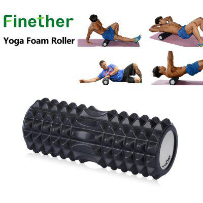 Finether Yoga Foam Roller EVA Exercise Trigger Point GYM Pilates Texture Physio Massage Noir ML-101102