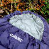 Enkeeo Envelope Sleeping Bag (Left) - PURPLE
