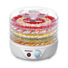 Excelvan 5 Tier Electric Food Fruit Dehydrator, Food Preserver with Adjustable Temperature Control, Nutural, Healthy, 240W, White