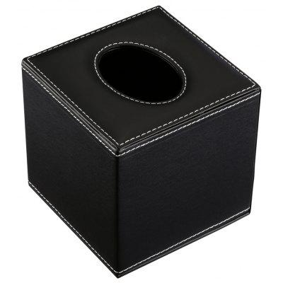 Finether Square PU leather Padded Top Roll Tissue Box