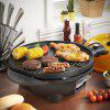 Excelvan Portable 1600W Electric BBQ Grill with 5 Temperature Settings Ideal for Indoor and Outdoor Use, Smokeless, Non-stick, Easy to Clean, Black
