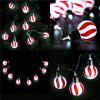Finether 3.94 ft 10 LED Stripe Globe Ball String Lights