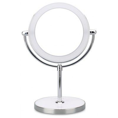 Ovonni Double Side 7X Magnification LED Makeup Mirror, Rechargerable Bathroom and Countertop LED Lighted Vanity Mirror