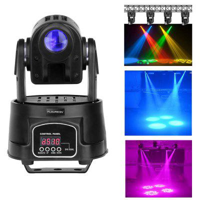 Floureon® 15W Mini LED Moving Head RGB Gobo Spot Light, DMX-512 5/13CH Effect Lighting, Rainbow Stage PAR Show DJ Club Party Disco Bar , UK.
