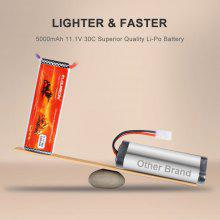 FLOUREON 3S 11.1V 5000mAh 30C Lipo Battery Pack Deans Plug for RC Helicopter RC Airplane RC Hobby