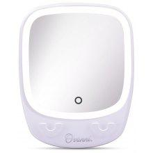 Ovonni Bathroom 2X Magnification LED Makeup Mirror with Suction Cup Vanity Wall Mirror with Hooks