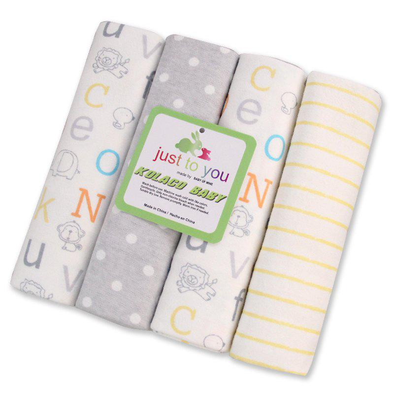 Pcs/Pack 100% cotton supersoft flannel receiving baby blanket baby bedsheet 76*76CM baby blankets letters