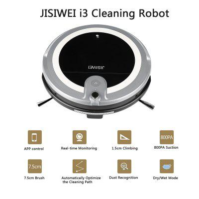 JISIWEI Vacuum Cleaning Robot i3 with Built-in HD Camera APP Remote Control for Android and iOS Smartphone