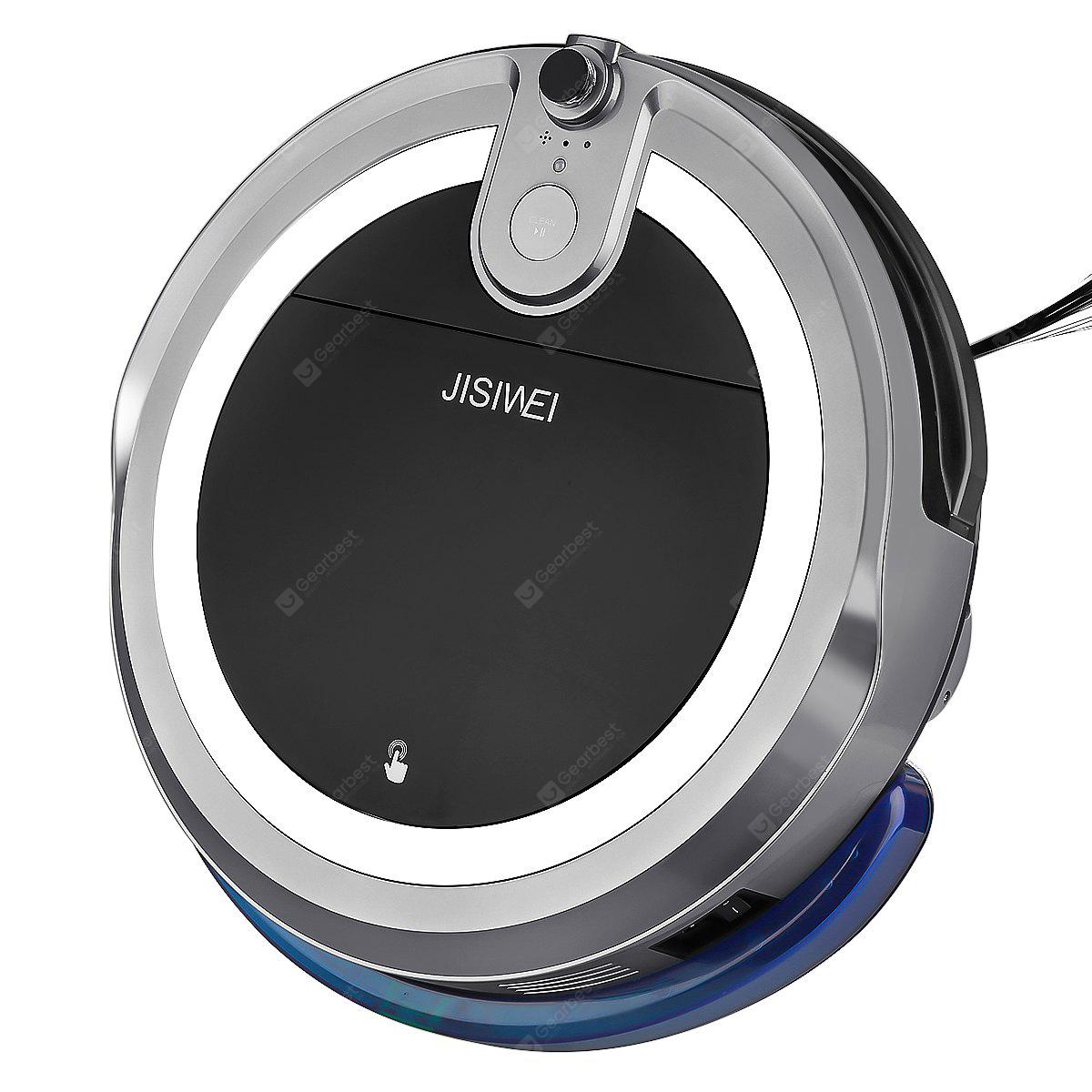 JISIWEI Vacuum Cleaning Robot i3 with Built-in HD Camera APP Remote Control for Android and iOS Smartphone - GRAY UK PLUG