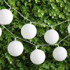 (STRING LIGHT BATTERY BALL COTTON WHITE) Finether 7.22ft 2.2 m Battery Powered 20 LED Cotton Ball Globe String Lights with Warm White Glow for Indoor Christmas Party Wedding Holiday Festival Celebrati